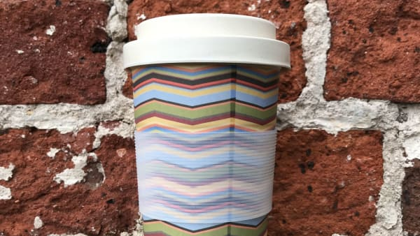 Bamboo Reusable Cup - Stripes