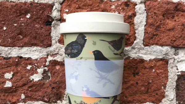 Bamboo Reusable Cup - Garden Birds