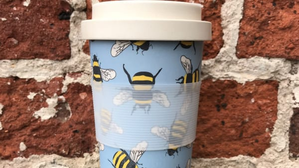 Bamboo Reusable Cup - Bee